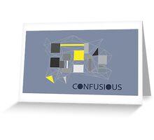 Confucius wallpaper (grey) Greeting Card