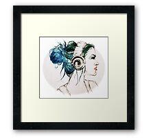 Headphones Framed Print