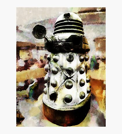 The Dead Dalek Display  Photographic Print