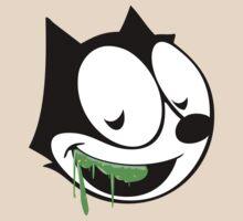 Green ooze vintage cartoon cat by mamisarah