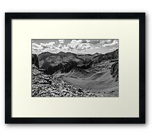 Looking South of Ice Lake Basin Framed Print