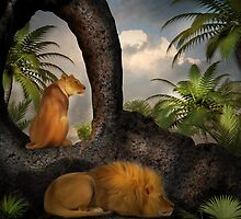 She Watches As He Rests by Lisa  Weber