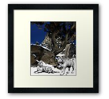 Hidden High In The Mountains Framed Print