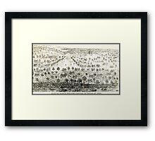 AUSTIN TEXAS 1844 Framed Print