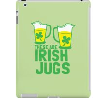 These are IRISH Jugs with green shamrcoks iPad Case/Skin
