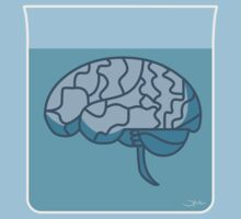 Brain in a jar (blue) Kids Tee
