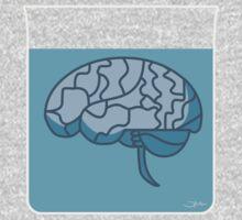 Brain in a jar (blue) One Piece - Long Sleeve