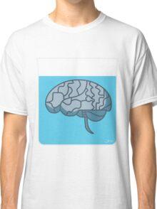 Brain in a jar (blue) Classic T-Shirt