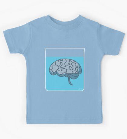 Brain in a jar (blue) Kids Tee