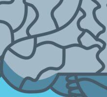 Brain in a jar (blue) Sticker