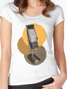 Ribbon Microphone Women's Fitted Scoop T-Shirt