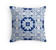 Portuguese glazed tiles Throw Pillow