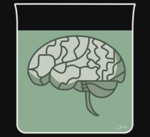 Brain in a jar (green) Kids Tee