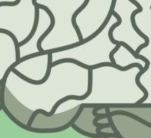 Brain in a jar (green) Sticker
