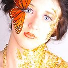 Blue Eyes and Butterflies by Barbara  Brown