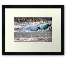 Catching the wave Framed Print