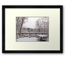 Peaceful snow scene Framed Print