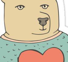Bear in love Sticker