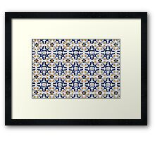 Portuguese glazed tiles Framed Print