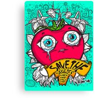 Save The Veggies - Tomato Canvas Print