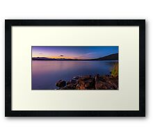 Serenity By The Lake Framed Print