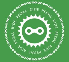 Ride & Pedal with White Text T-Shirt