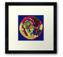 - the earth - Framed Print