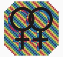 Gay Female symbol - Black only by matt lloyd