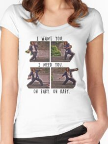 I Want You. I Need You.  Women's Fitted Scoop T-Shirt