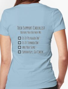 Tech Support Checklist Womens Fitted T-Shirt