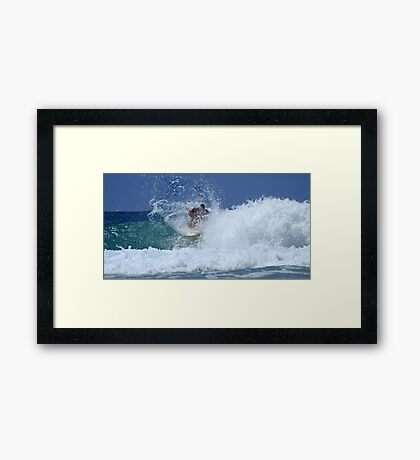 The Girls Are Surfing Snapper #3 Framed Print