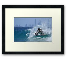 The Girls Are Surfing Snapper #4 Framed Print
