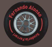Fernando Alonso Scuderia Ferrari F1 Wheel by FormulaFans