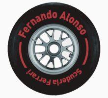 Fernando Alonso Scuderia Ferrari F1 Wheel Kids Clothes