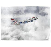 British Airways A380 Poster