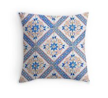 Portuguese glazed tiles Throw Pillow
