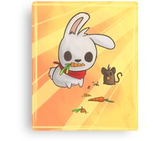 Bunny and Mouse Canvas Print