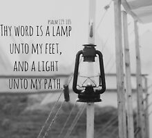 Psalm 119 Word Lamp by Kimberose