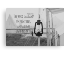Psalm 119 Word Lamp Canvas Print