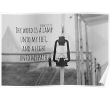 Psalm 119 Word Lamp Poster
