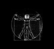 Vitruvian Man (neg) by Joyce Flendrie