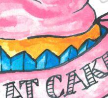 Retro 'Eat Cake' Tattoo Design Sticker