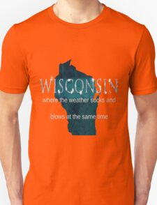 Wisconsin Weather Sucks and Blows Unisex T-Shirt