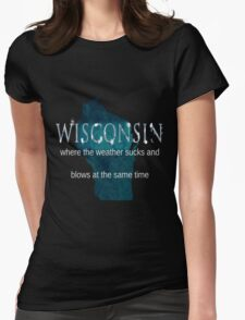 Wisconsin Weather Sucks and Blows Womens Fitted T-Shirt