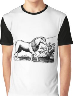 16th Century Engraved-style Unicorn Graphic T-Shirt