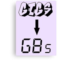 Gigs to gigs Canvas Print