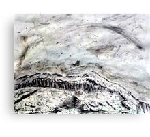 Burren Charcoal Canvas Print