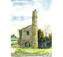 Cornish Tin Mine Engine House Photographic Print