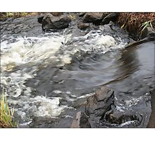 Gushing River Flow Art Print Photographic Print