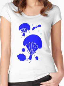 Cute Parachute Women's Fitted Scoop T-Shirt